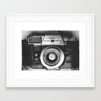 vintage camera Framed Art Prints featuring Camera by Pauline Gauer