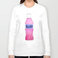 coke Long Sleeve T-shirts featuring Pink Coke by Shellsea Art