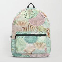 MERMAID SHELLS - MINT & ROSEGOLD Backpack