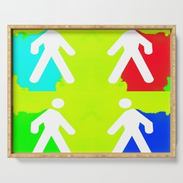 Super heroes Serving Tray
