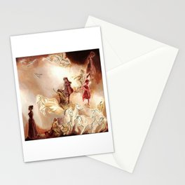 Imagined dream horses children dancing painting Stationery Cards