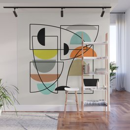 "Mid Century Modern ""Bowls"" Wall Mural"