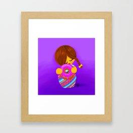 Donut Kokeshi Framed Art Print