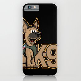 K-9 Dog Cartoon Illustration iPhone Case
