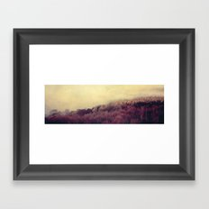Walking on Clouds Textured Framed Art Print