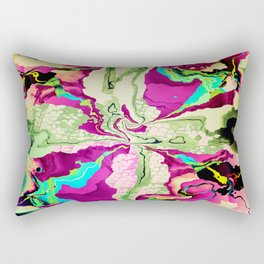Water colour abstract with Dragonfly patterns Rectangular Pillow