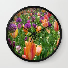 A Sunset in Bloom Wall Clock