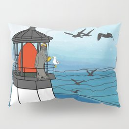 Tuskadero Slim at his home in the Cape Meares Lighthouse from Flock of Gerrys Gerry Loves Tacos Pillow Sham