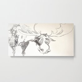 sad moose Metal Print