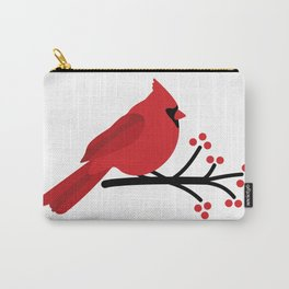 Cardinal on Branch Carry-All Pouch