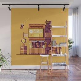 Cyberpunk Post Office Wall Mural