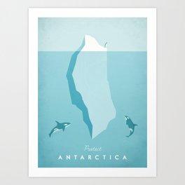 Vintage Travel Poster: Antarctica Art Print
