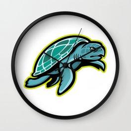 Ridley Sea Turtle Mascot Wall Clock