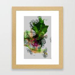 Green Ruin Framed Art Print