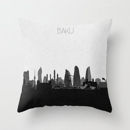City Skylines: Baku Throw Pillow