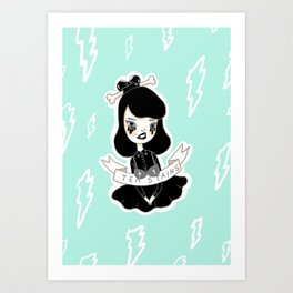 Tea Stains Art Print
