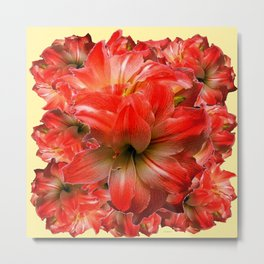 Amaryllis Floral abundance Metal Print