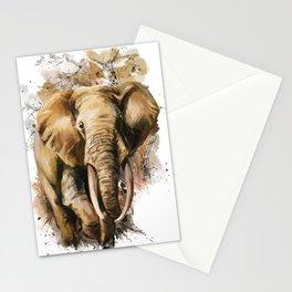 Ornate Elephant vector elephant Stationery Cards