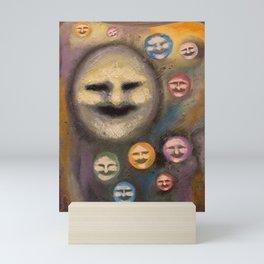 smiling faces Mini Art Print