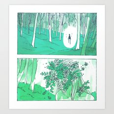 Gardenhead Art Print
