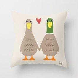 Love Ducks Throw Pillow