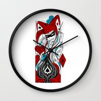 joker Wall Clocks featuring JOKER by taniavisual