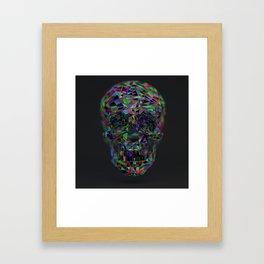 Skull Low-Poly Color Framed Art Print