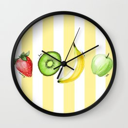 The Summer Fruits Wall Clock