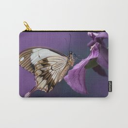 Pretty butterfly on pink flower Carry-All Pouch