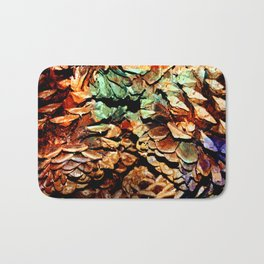Painted Pine Bath Mat