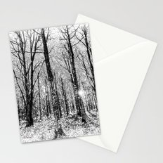 Monochrome Snow Forest Art Stationery Cards