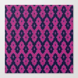 Mauresque Counterchange (Hot Pink - Navy) Canvas Print