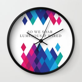 So We Soar Luminous & Wired Wall Clock