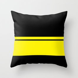 Yellow Racing Stripe Berlin Style Throw Pillow