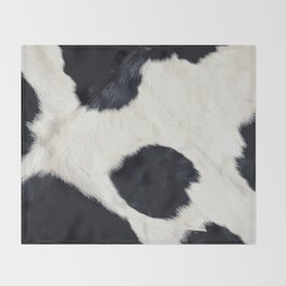 Cow Skin Throw Blanket