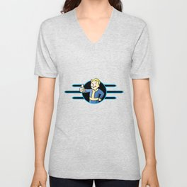 Fallout 4 Vault Boy Thumbs Up Unisex V-Neck