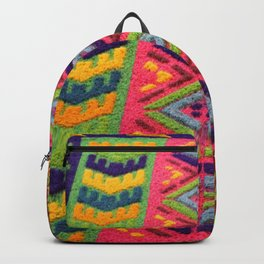 Colorful Guatemalan Alfombra Backpack