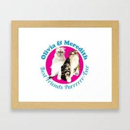 Olivia & Meredith Best Friends Framed Art Print