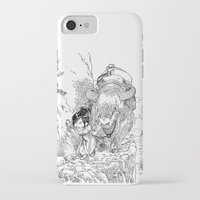 bouletcorp iPhone & iPod Cases featuring Promenade dans la montagne - Walking in the mountains by Bouletcorp