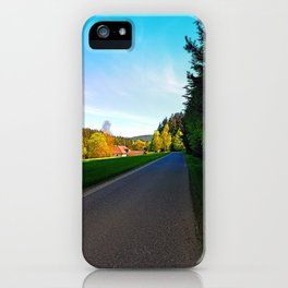 Country road on a spring afternoon | landscape photography iPhone Case