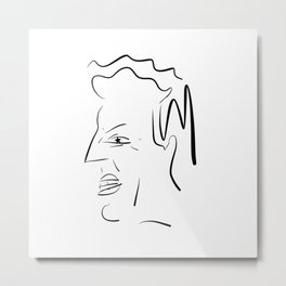 Man with Star Eye Metal Print