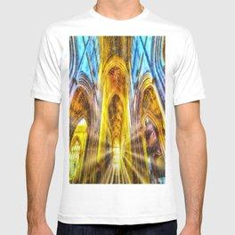 Bath Abbey Sun Rays Art T-shirt