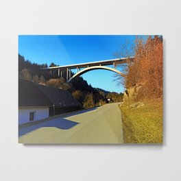 Mighty valley bridge | architecture photography Metal Print