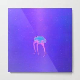 Neon Jelly Metal Print