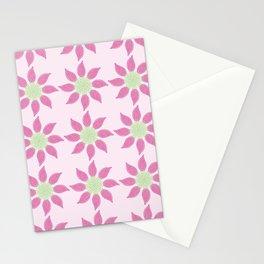 Fuchsia Flower Buds Pattern Stationery Cards