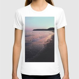 Glitched Sunset on the Ocean T-shirt