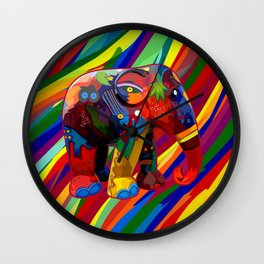 Full Color Abstract Elephant Wall Clock