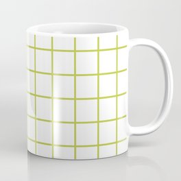 Grid Pattern Chartreuse Coffee Mug