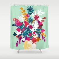 blush Shower Curtains featuring Blush by Picomodi