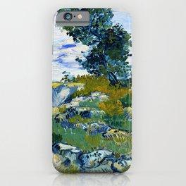 Vincent van Gogh - The Rocks, Rocks With Oak Tree - Digital Remastered Edition iPhone Case